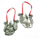 3 french hens ltd edition christmas decoration